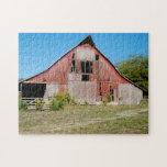 USA, Kansas, Old Red Barn Jigsaw Puzzles