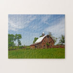 USA, Kansas. Old Red Barn Puzzle