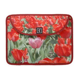 USA, Kansas, Red Tulips With One Pink Tulip MacBook Pro Sleeve