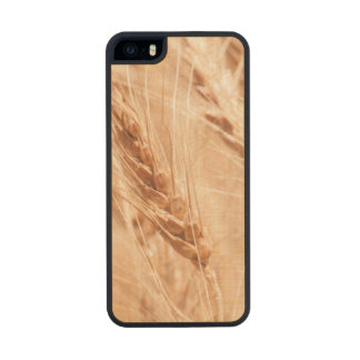 USA, Kansas, Wheat At Harvest Time Wood Phone Case For iPhone SE/5/5s