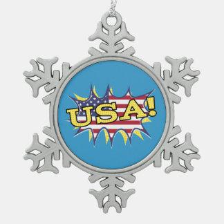 """USA """"KAPOW flag starburst Ornament"""