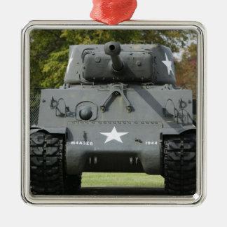 USA, Kentucky, Fort Knox: Patton Museum of Square Metal Christmas Ornament