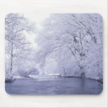 USA, Kentucky, Louisville. Snow covered Mouse Pad