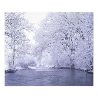 USA, Kentucky, Louisville. Snow covered Photo Print