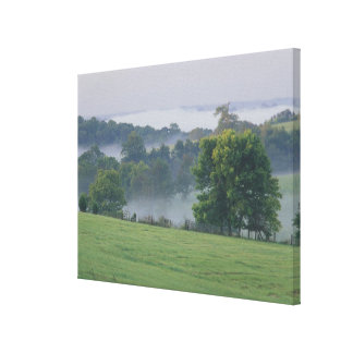USA, Kentucky. Rolling hills of the Bluegrass Canvas Print