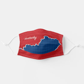 USA Kentucky State Stars and Stripes Map Cloth Face Mask