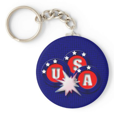 USA Themed USA KEYCHAIN