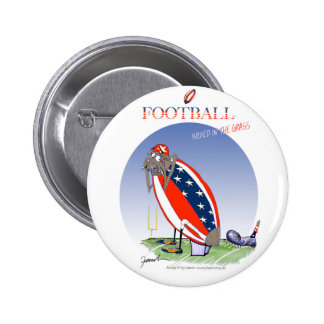 USA kicked in the grass, tony fernandes Pinback Button