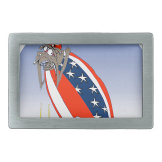 USA kicked in the grass, tony fernandes Rectangular Belt Buckle