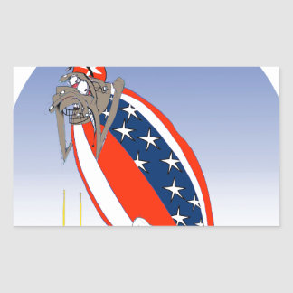 USA kicked in the grass, tony fernandes Rectangular Sticker