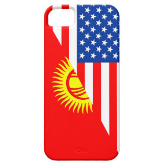 usa Kyrgyzstan country half flag america symbol iPhone SE/5/5s Case