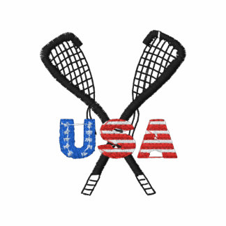 USA Lacrosse Embroidered Embroidered Polo Shirts