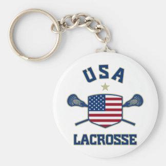 USA Lacrosse Keychain