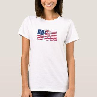 USA Ladies Baby Doll (02) T-Shirt
