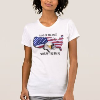 USA Land of the Free Home of the Brave Eagle T-Shirt