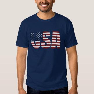 USA Letters Make The American Flag Shirt