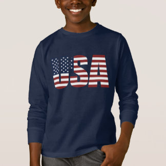 USA Letters Make The American Flag T-Shirt