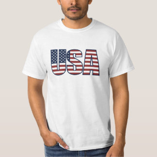 USA Letters - The American Flag Blue Frame Shirt