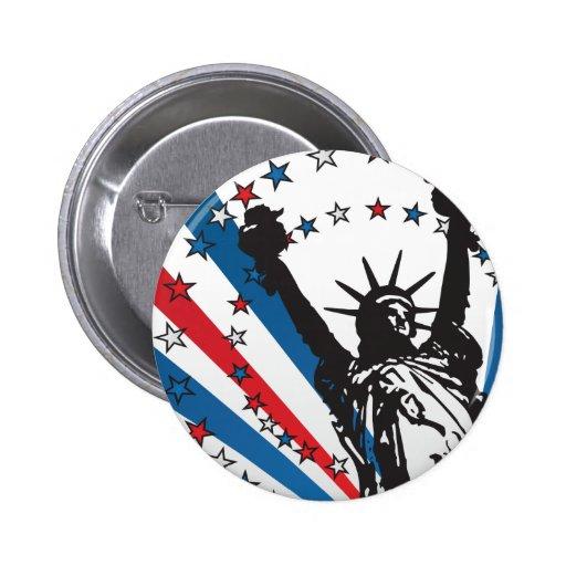 USA Liberty 2 Inch Round Button
