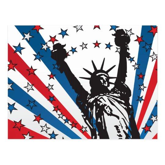USA Liberty Postcard