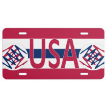 USA License Plate