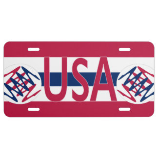 USA License Plate