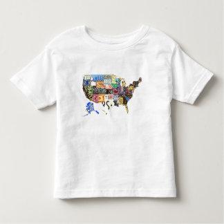 USA license plates - all states vintage Toddler T-shirt