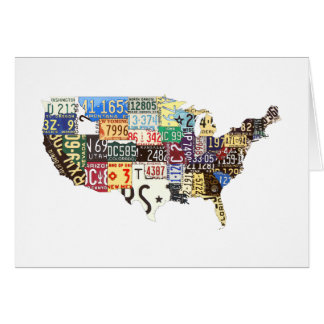 USA license plates vintage Stationery Note Card
