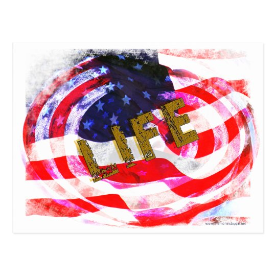 USA -LIFE, LIBERTY & THE PURSUIT OF HAPPINESSS POSTCARD