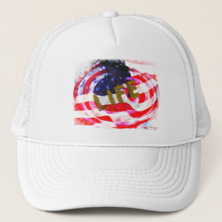 USA -LIFE, LIBERTY & THE PURSUIT OF HAPPINESSS TRUCKER HAT