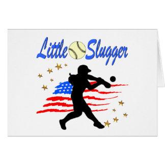 USA LITTLE SLUGGER SOFTBALL GIRLS DESIGN CARD