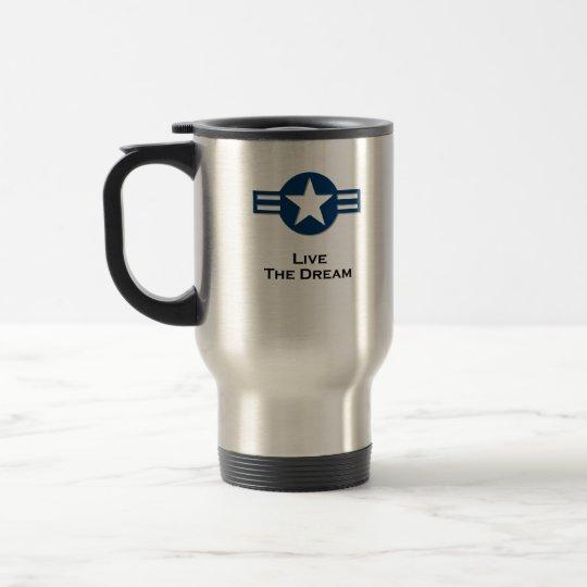 USA Living The Dream blue Travel Mug