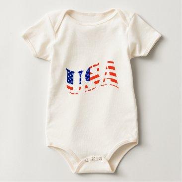 USA Themed USA logo Baby Bodysuit