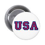 USA Logo Items Pinback Button