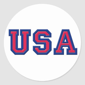USA Logo Items Classic Round Sticker