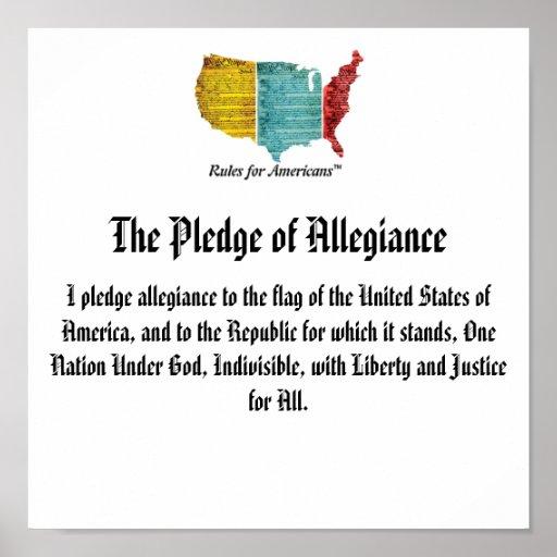 USA Logo Pledge of Allegiance Print