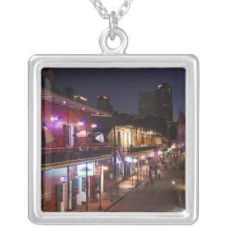 USA, Louisiana, New Orleans. French Quarter, Silver Plated Necklace