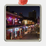 USA, Louisiana, New Orleans. French Quarter, Square Metal Christmas Ornament