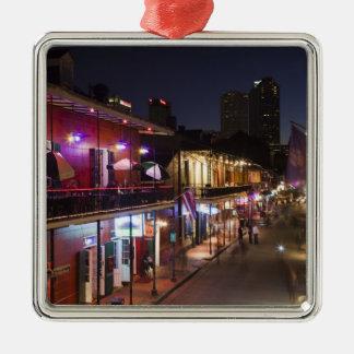 USA, Louisiana, New Orleans. French Quarter, Square Metal Christmas Ornament