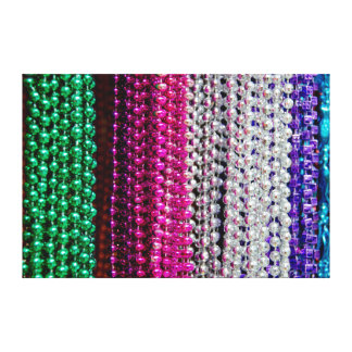 USA, Louisiana, New Orleans. Mardi Gras Beads Canvas Print