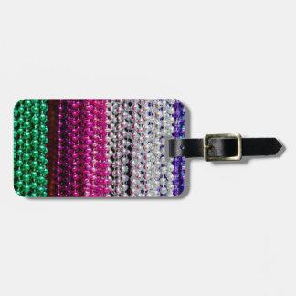 USA, Louisiana, New Orleans. Mardi Gras Beads Luggage Tag