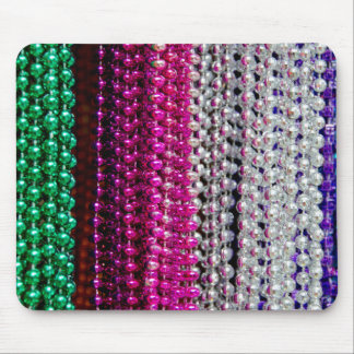 USA, Louisiana, New Orleans. Mardi Gras Beads Mouse Pad