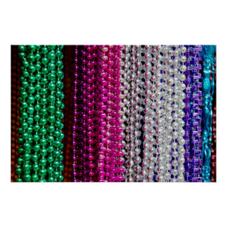 USA, Louisiana, New Orleans. Mardi Gras Beads Poster