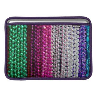 USA, Louisiana, New Orleans. Mardi Gras Beads Sleeve For MacBook Air