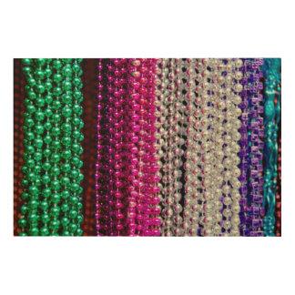 USA, Louisiana, New Orleans. Mardi Gras Beads Wood Print