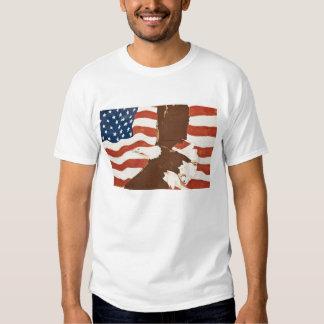 USA, Louisiana, Port Allen. Patriotic mural T-Shirt