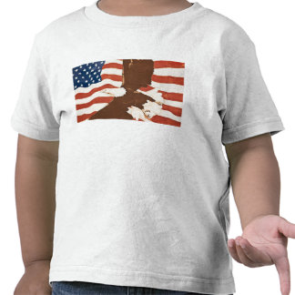 USA, Louisiana, Port Allen. Patriotic mural T Shirts