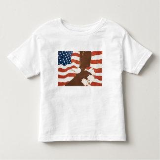 USA, Louisiana, Port Allen. Patriotic mural Tee Shirt
