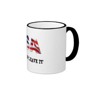 USA love it or leave it Coffee Mug
