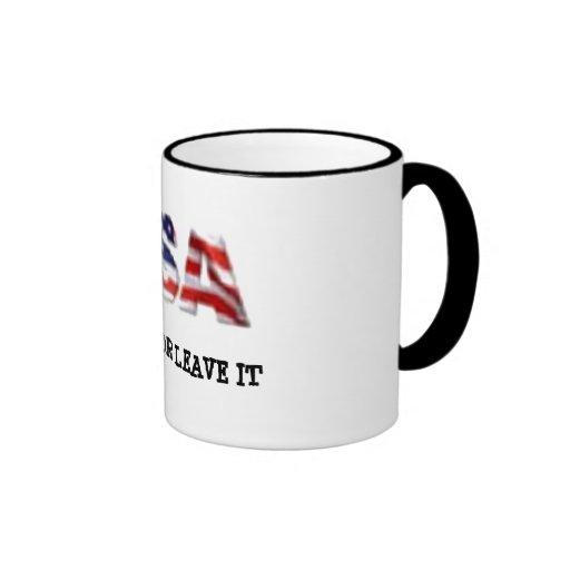 USA love it or leave it Ringer Coffee Mug